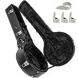 AKLOT Banjo - Bolsa para banjos (5 cuerdas, 6 cuerdas, resonador, banjo con 4 púas de metal