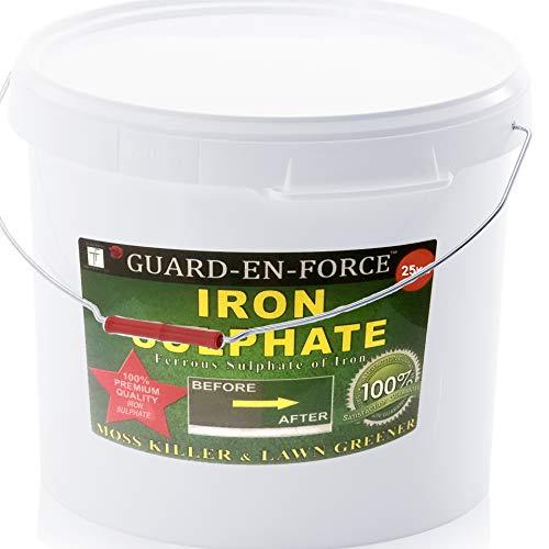 GUARD-EN-FORCE 25 Kilogram Bucket of Iron Sulphate Premium Lawn Tonic, Feed...