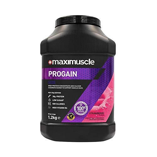 MAXIMUSCLE Progain Protein Powder Strawberry Flavour,1.2 kg