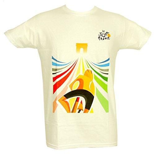 T-Shirt 'Champion du Tour de France' Officiel - Blanc (XL)
