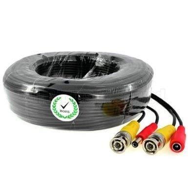 BW 40M / 132FT Pies Cable de alimentación de vídeo BNC para CCTV cámara DVR Sistema de Seguridad (40M) - Cámara Array Mejorada Dedicado: Tipo de Cable: 0.75mm², Cable OD: 4.7mm