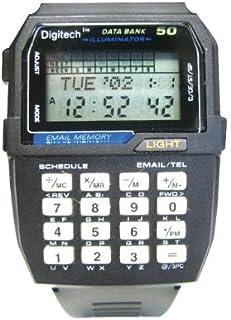 ヴィンテージレトロブラックデータ銀行Illuminatorデジタル多機能30メモリスポーツ腕時計