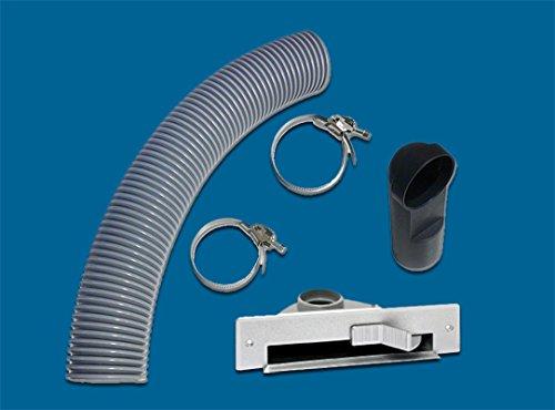 AERTECNICA Vac Pan PA407 stopcontact voor meubels/plinten grijs met montagekit
