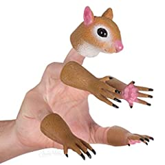 Set of 5 finger puppets Includes 4 paws & 1 head Transforms hand into a squirrel Your hand will climb trees and forage for nuts