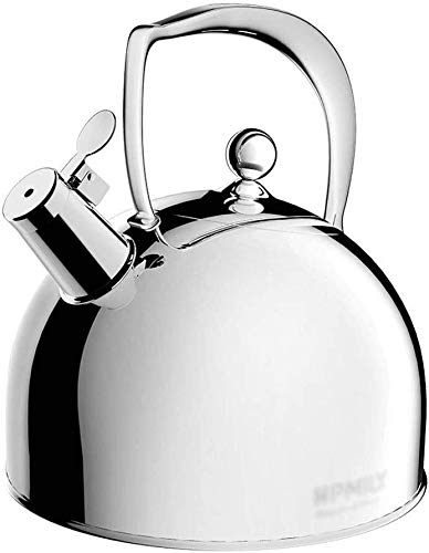 Argent Bouilloire gaz 3L Bouilloire en acier inoxydable Cuisinière à induction Camping bouilloires Poêle Whistling eau de cuisson Ustensiles de cuisine UOMUN