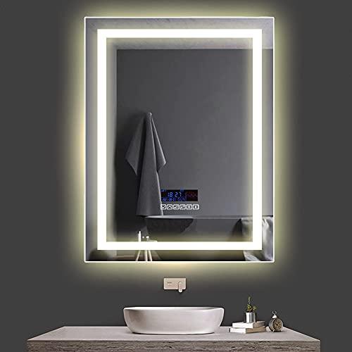 Espejo de baño con marco de luz con conexión bluetooth de Turefans