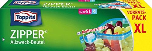 Toppits - Zipper Allzweckbeutel 6 Liter XL