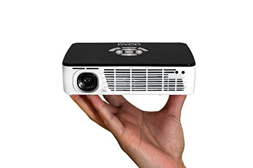 AAXA Technologies P300 Pico Projector with Rechargeable Battery - Native HD resolution with 500 LED...
