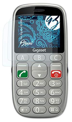 Bruni Schutzfolie kompatibel mit Gigaset GL390 Folie, glasklare Bildschirmschutzfolie (2X)