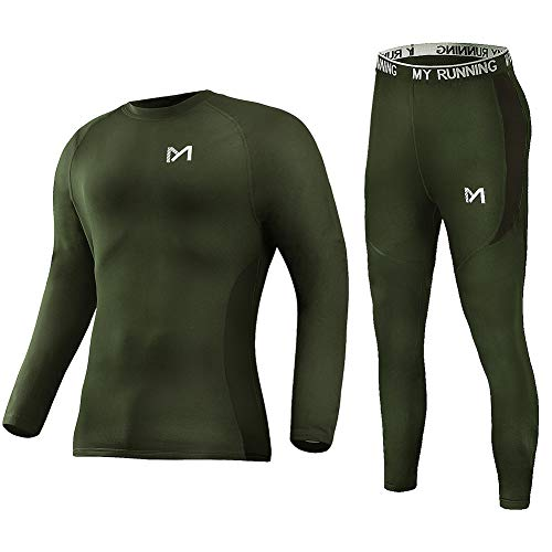 Men's Thermal Underwear Set, Sport Long Johns Base Layer for Male