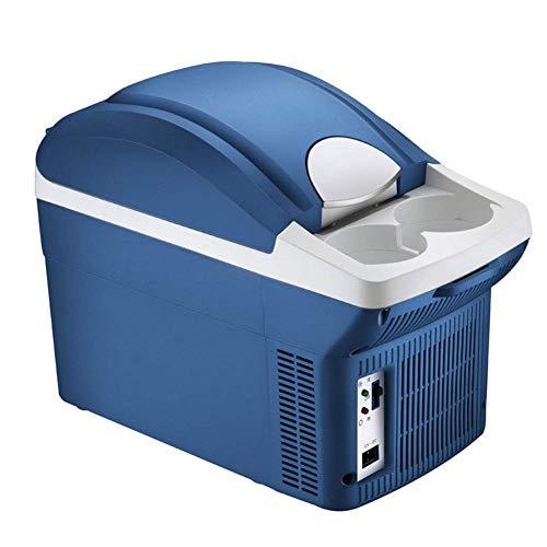 Coche Frigorífico, 8L termoeléctrica Nevera portátil, con cómodos Portador del apoyabrazos Copa, Caliente y frío, hogar del Coche de Doble Uso, 12 V y 220 V