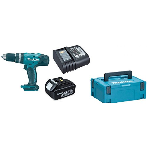 Makita DHP453SF DHP453 LXT 18V Combi Drill with 3Ah BL1830 Battery DC18SD Charger & Case