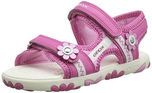 Geox Mädchen J Haiti Girl B Peeptoe Sandalen, Pink (Fuchsia C8002), 32 EU