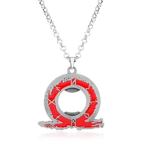 YUNMENG Mode Film Schmuck God of War Kratos Ps4 Ares 4 Flaschenöffner Halskette Cosplay Anhänger Halsketten Für Frauen Männer