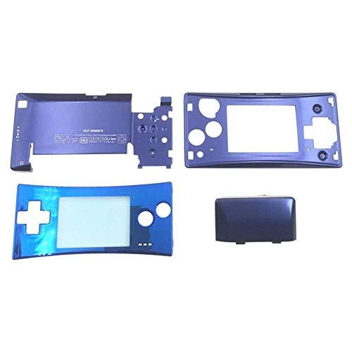 Meijunter Boîtier Shell Kit pour Nintendo Gameboy Micro GBM - 4PCS Avant Faceplate Étui de Logement Bas Couverture Set (Bleu)