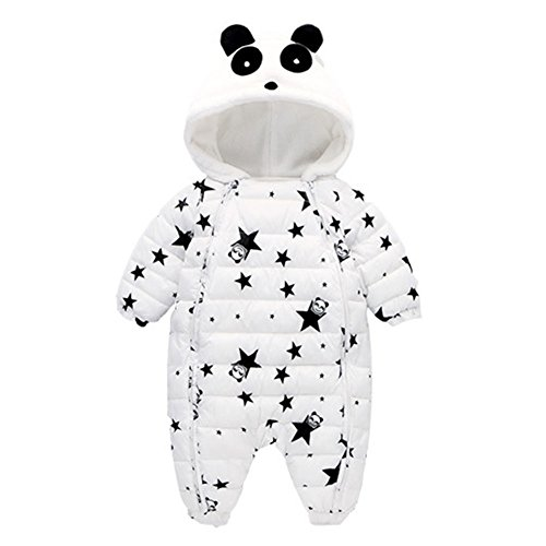 Inverno Cartoon Neonato Bambina Bambino Cappotto Thicker Hooded Romper Jumpsuit Outfit