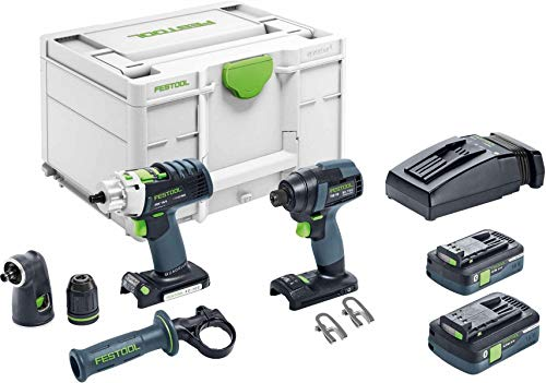 Festool 576490 TID 18 Impact Driver and PDC 18...