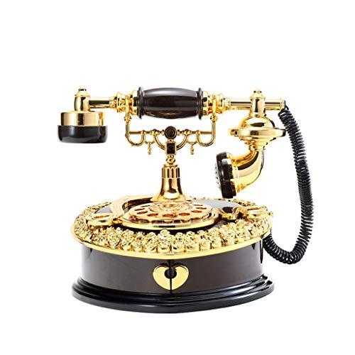 kiki Carillon Clockwork Musical Box di plastica Vintage Telefono Music Box Brown Jewelry Musical Box di stoccaggio Regalo di Compleanno for i Bambini Regalo di Compleanno (Color : Brown)
