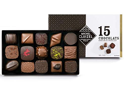 Bombones de chocolate negro y leche 15 piezas Michel Cluizel