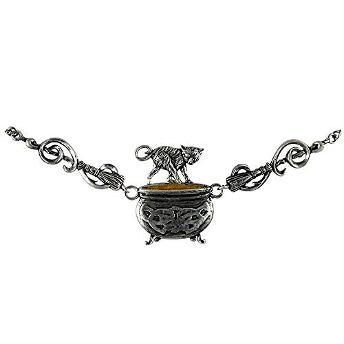Cauldron Capers - Witches Familars - Cat Pendant Necklace for Craftiness