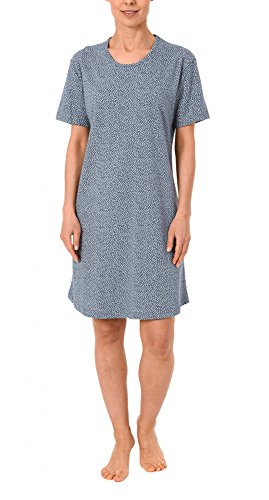Normann Damen Bigshirt Kurzarm Nachthemd mit Minimalprint - 171 213 90 904, Größe:40/42;Farbe:blaumelange