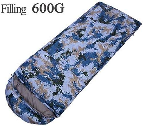 Remplissez 400G 600G 800G 1000G en Duvet d'oie Sacs de Couchage ultralégers armée ou Militaire ou Camouflage Camping Sac de Couchage
