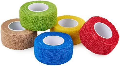 CamGo 5 Pack Self Adhesive Bandage Rolls Elastic Cohesive Protector Tapes for Finger Wrist and product image
