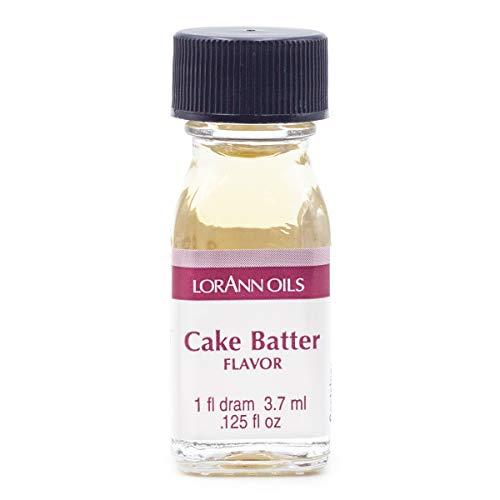 LorAnn Cake Batter Super Strength Flavor, 1 dram bottle (.0125 fl oz - 3.7ml)
