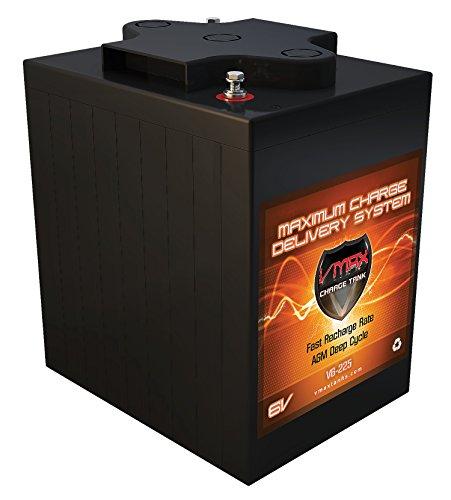 VMAX V6-225 6 Volt 225Ah Group GC2 AGM Deep Cycle Battery. Capacity: 225Ah; Energy: 1.55kWH; Reserve Capacity: 500min