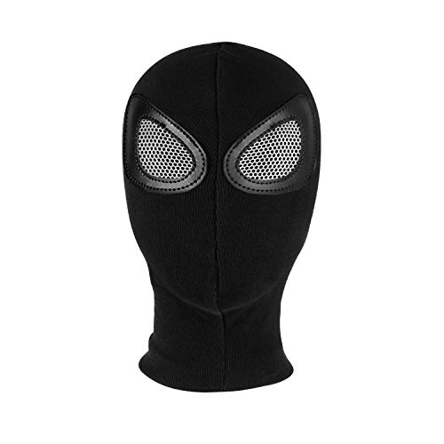Lubber Full Face ski Cover Mask Adult Balaclava Warm Outdoor Props for Superhero Halloween Cosplay Costumes Party(Black)