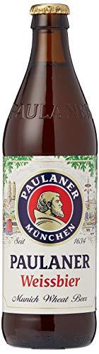 1. Paulaner Hefe Weissbier – Cerveza de trigo alemana de 500 ml con 5.5% de alcohol