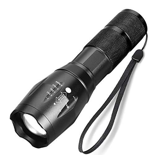 10000 lúmenes LED linterna T6/L2 ultra brillante linterna 5 modos Zoomable linterna táctica al aire libre flash luz