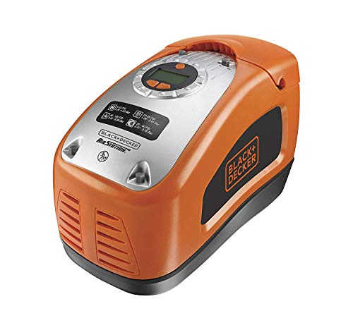 Black+Decker ASI300 Compressore Portatile Compatto Senza Serbatoi, Arancione (Orange), 230 V/Ac, 1103 kPa / 160 psi / 11.03 bar
