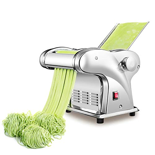Macchina per pasta elettrica automatica, spessore regolabile 0,3-4 mm Macchina per spaghetti Tagliatelle Gnocchi Rotondi/piatti Macchina per pasta per pasta elettrica