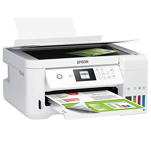 Epson EcoTank ET Series Wireless Color All-in-One Supertank Inkjet Printer/Print, Copy, Scan/White