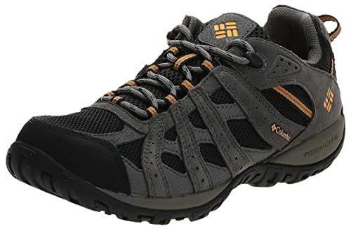 Columbia Men's Redmond Waterproof Hiking Shoe, Black, Squash, 10 2E US
