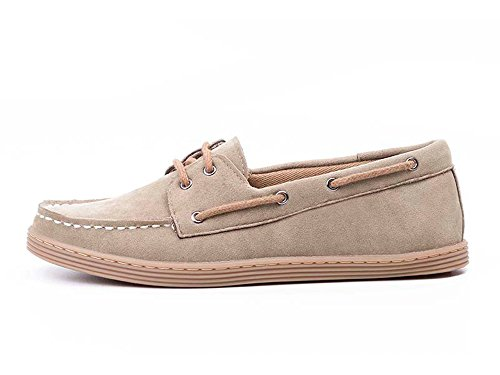 Ahimsa Women's Vegan Boat Shoe in Khaki