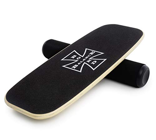 NampM Products Balance Board  Wooden Balance Trainer for Fitness Surfing Snowboarding Skateboarding and Exercise