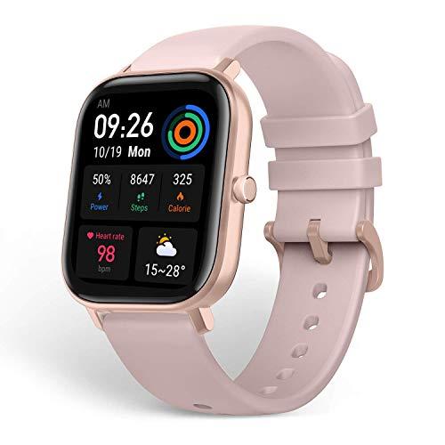 Amazfit GTS Reloj Smartwactch Deportivo | 14 días Batería | GPS+Glonass | Sensor Seguimiento Biológico BioTracker PPG | Frecuencia Cardíaca | Natación | Bluetooth 5.0 (iOS & Android) Pink - Rosa