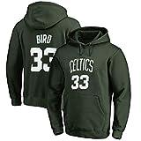 Sudadera con capucha de baloncesto para hombre, Larry Bird #33 con capucha, Boston Celtics, sudadera con capucha, para entrenamiento de otoño e invierno, de manga larga, S-XXXL, B, L