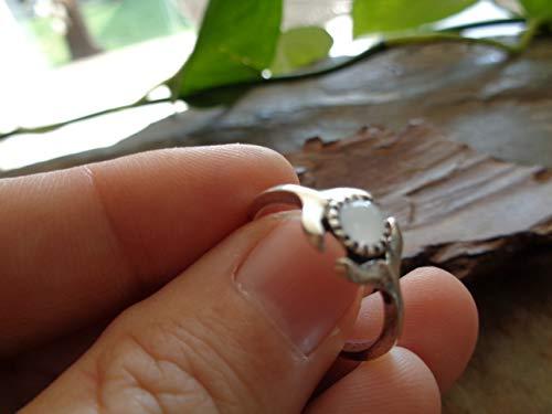 ✿ KLEINE PERLE WALSCHWANZ FLOSSE RING ✿ versilberter bohemian Statement Ring, Greenpeace,
