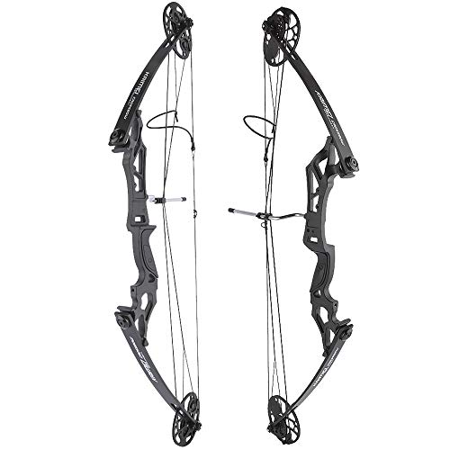 ZSHJGJR Archery Compound Bow and Arrow Set 25-50lbs Draw Weight 19.5'-30' Draw Length Adjustable 260 fps Archery Hunring Compound Bow Kit for Adult Beginners (Only Bow)