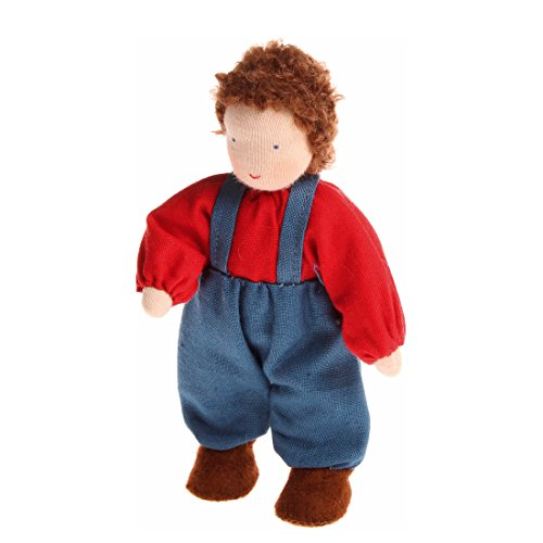 Grimm's Puppenhauspuppe Junge braun