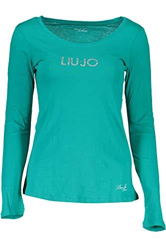 Liu Jo WXX017 JB231 T-Shirt Maniche Lunghe Donna Verde 75034 S