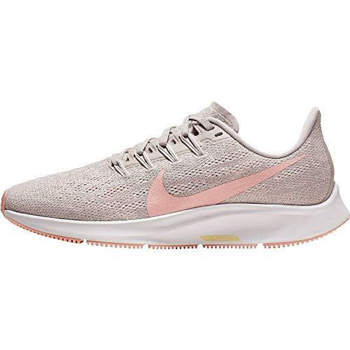 Nike Air Zoom Pegasus 36, Zapatillas de Trail Running Mujer, Multicolor (Pumice/Pink Quartz/Vast Grey 200), 38 EU