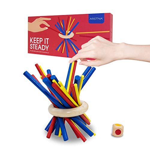Arstna Sticks Steady Game Toy, Sticks Stacking Game Toys for Kids Balance & Patience Training,...