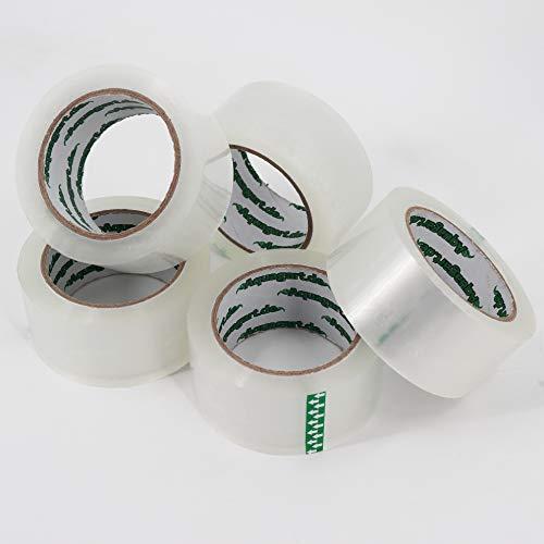 6x Aquagart ® Aquagart Paket-Klebeband 60my, reißfestes Packband transparent 50mm, starkes Paketband mit Acrylatkleber, 6 Rollen á 66m