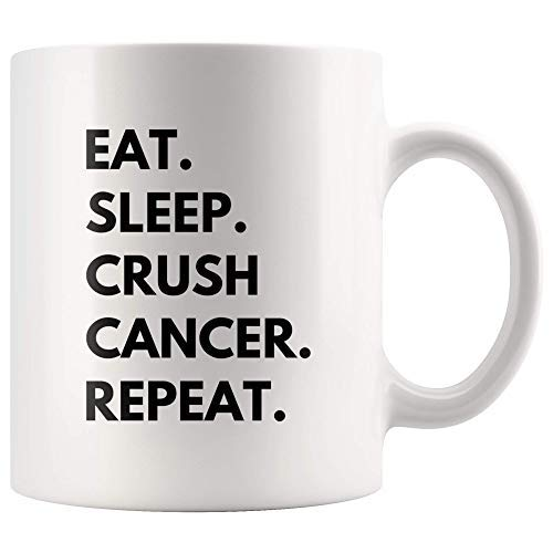 Eat Sleep Crush Crush - Taza de cerámica de 11 ouncer con acabado de alto brillo y acabado de color blanco