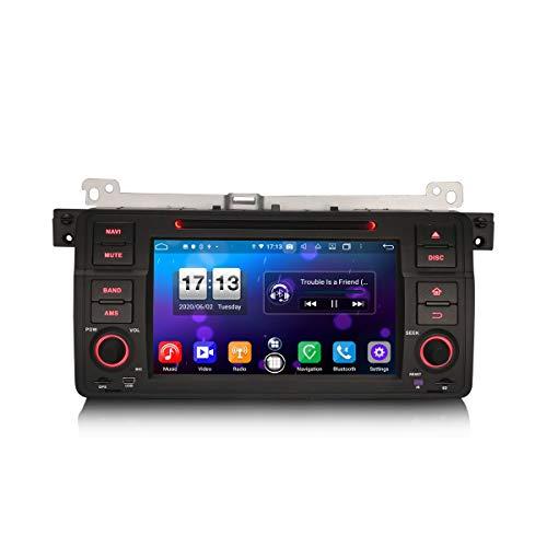 ERISIN 7 Pulgadas Android 10.0 Autoradio para BMW Serie 3 E46 MG ZT Rover 75 Soporte GPS Sat Nav Carplay Android Auto DSP Bluetooth WiFi 4G Dab + TPMS 8-Core 4GB RAM + 64GB ROM