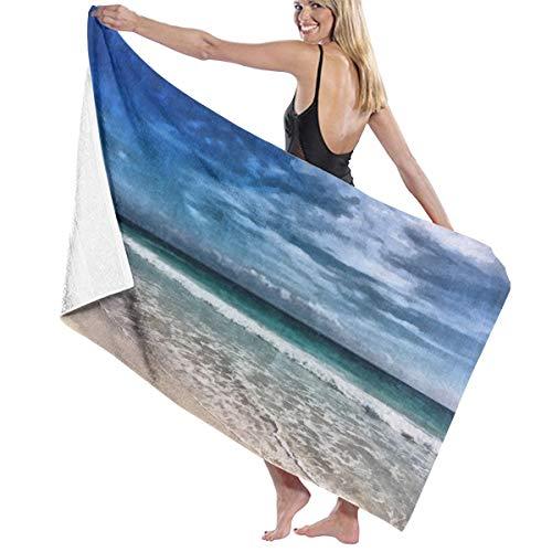 Tsjkwo Watercolor Art On Canvas Artistic Big Print Original Modern N Quick-Drying Beach Towel The Best Lightweight Bath Towel for Swimming Beach (32 x 52) inches